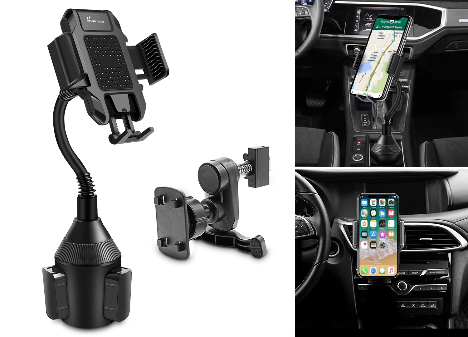 2-in-1 Car Phone Holder